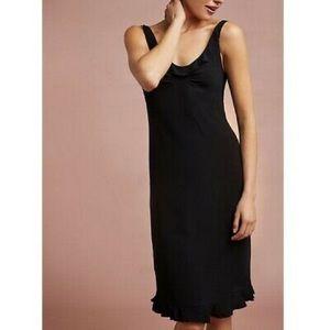 Floreat Anthropologie Black Midi Ruffle Dress